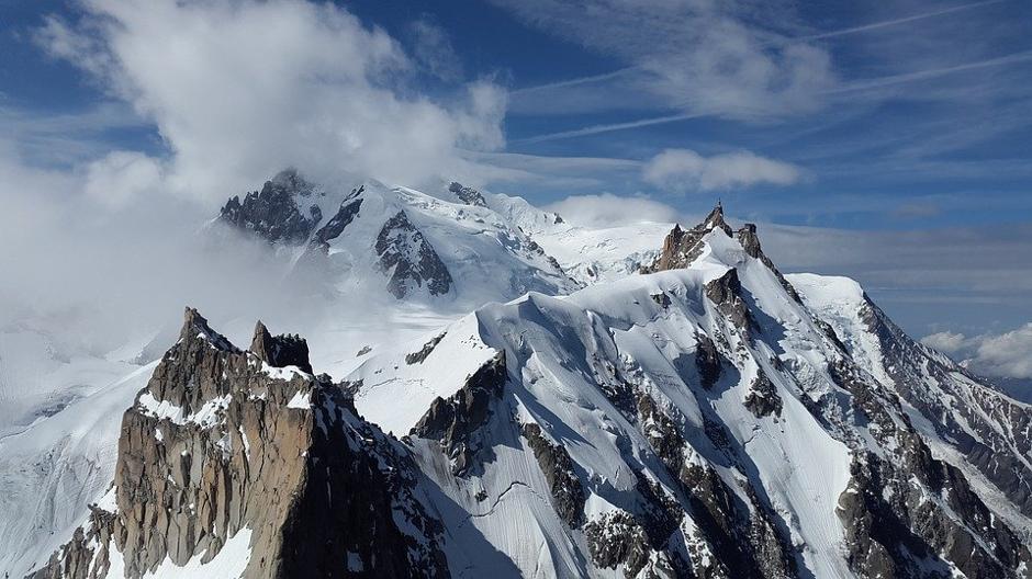 הפסגה של אתר הסקי בשאמוני – האלפים הצרפתיים