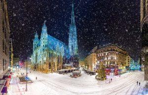 עיר אוסטרית בשלג