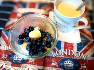 תה ואוכמניות בלונדון